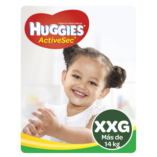 Pañales Huggies Active Sec x2 Packs