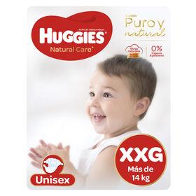 Pañales Huggies Natural Care Unisex Pack 56 Un (1 paq. X 56 un). Talla XXG