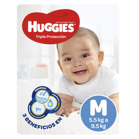 Pañales Huggies Triple Protección (1 Paq x 72 un) Talla M