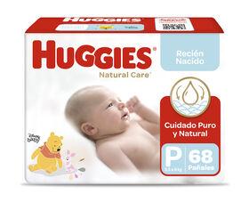 Pañales Huggies Natural Care Unisex Pack (2 Paq. x 34 un) Talla P