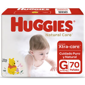 Pañales Huggies Natural Care Unisex Pack 70 Un (1 paq. x 70 un). Talla G