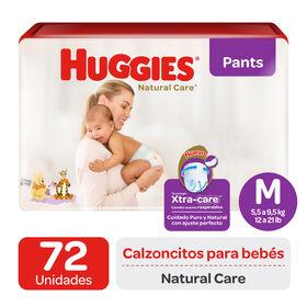 Pant Huggies Natural Care Xtra Care M x72 Un