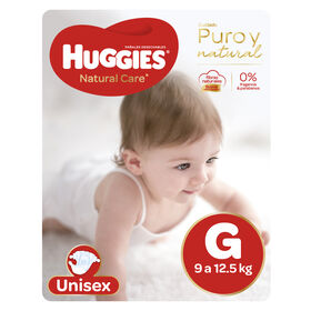 Pañales Huggies Natural Care Unisex Pack 70 Un (1 paq. x 70 un). Talla G