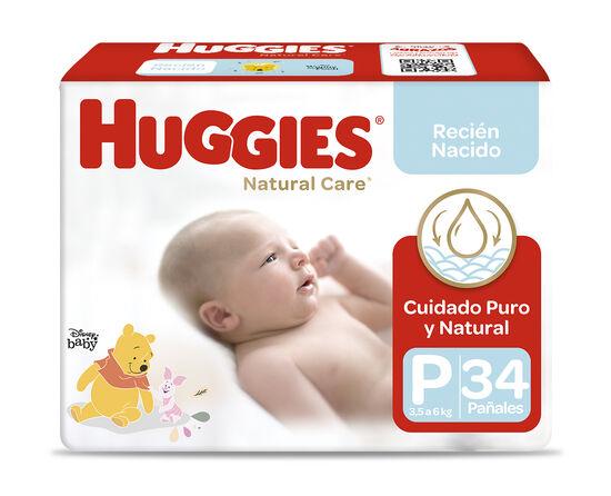 Pañales Huggies Natural Care Unisex (1x34 un) Talla P