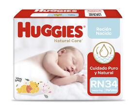 Pañales Huggies Natural Care Xtra Care Pack (1 x34 un) Talla RN