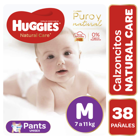 Pants Huggies Natural Care Unisex (1 paq. x 38 un) Talla M