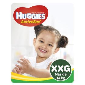 Pañales Huggies Active Sec x2 Packs