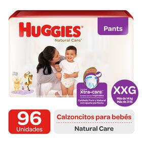 Pants Huggies Natural Care XtraCare   Pack 96 un (2 paq. x 48 un) Talla XXG