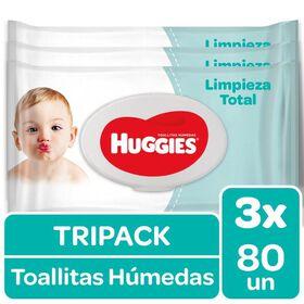 Toallitas Humedas Huggies One&Done (Tripack 3 paq x 80 un)