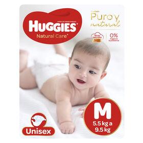 Pañales Huggies Natural Care Xtra Care Pack 82 Un (1 paq. x 82 un). Talla M