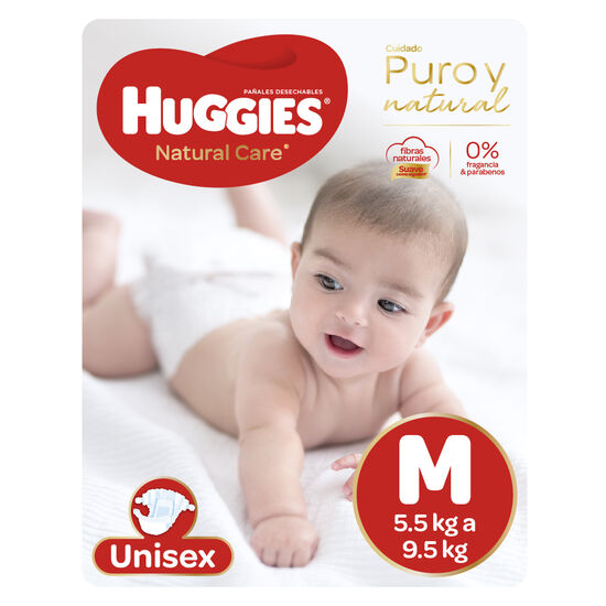 Pañales Huggies Natural Care Unisex x3 Packs