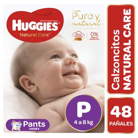 Pants Huggies Natural Care Unisex 48 un Talla P